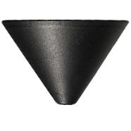 Černý plastový baldachýn